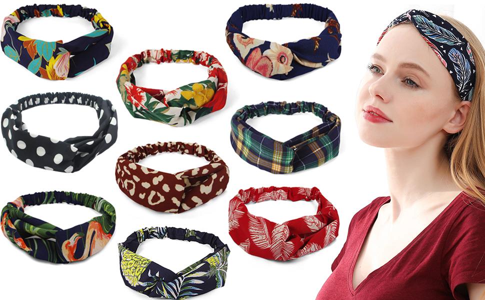 10pcs womens headbands
