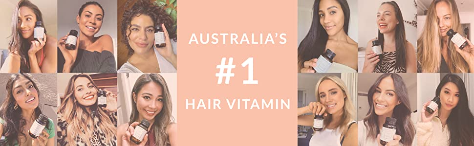 Australia's Number 1 Hair Vitamins for women