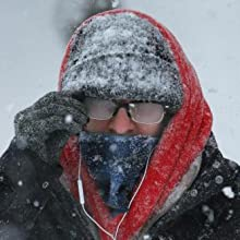 Women Balaclava Visor One-Piece Skull Beanie Hat Neck Circle Scarf Ski Snow Winter Knit Fleece Cap