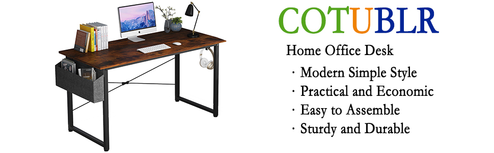 frontside home office computer desk with storage