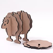 shaped coasters, innovative coaster stands, stylish stands, sheep, animal, quirky, funny