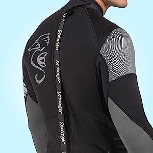 seavenger wetsuit  long leash sturdy zipper