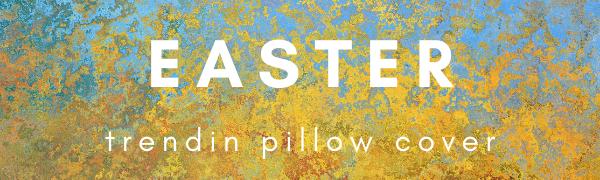 Trendin Happy Easter Pillow Cover