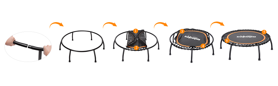 40-Inch Fitness Trampoline for Adults and Kids