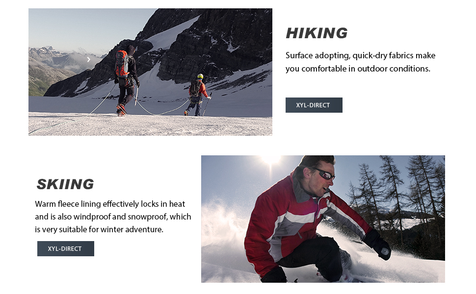 Wespornow Mens-Fleece-Lined-Hiking-Pants Water-Resistance-Snow-Ski-Pants Soft Shell Snowboarding Pants for Winter Outdoor