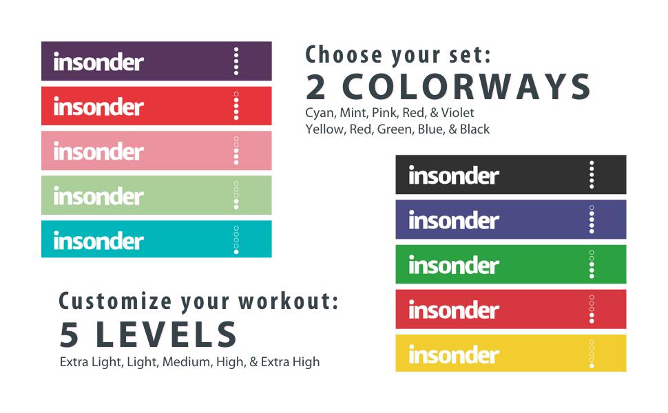 insonder Resistance Bands Set | Colorways