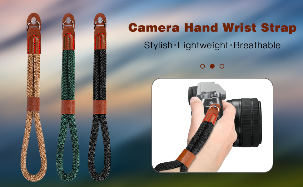 Cotton Adjustable Camera Hand Grip Strap Wristband Stability Security for Fujifilm//Nikon//Canon//Sony//Olympus//Panasonic//SLR//DSLR Digital Cameras Black//Dark Green 2 Pack MoKo Camera Hand Wrist Strap