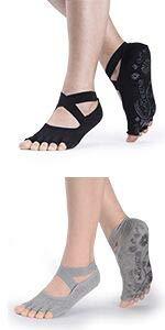 Toe Palite Socks Black Gray