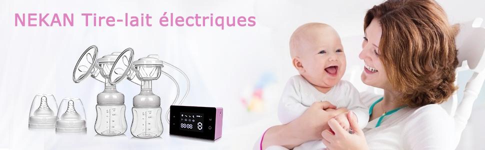 Tire-lait /électrique tire-lait simple sans douleur excellent mode de massage pour le confort de maman Pink 2 modes rechargeables 9 niveaux daspiration puissants