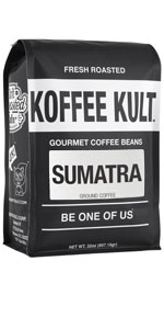 Koffee Kult Sumatra Coffee, 100% Arabica Beans