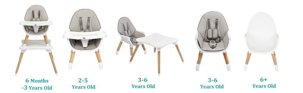 5 in 1 infant high chair to grow with baby