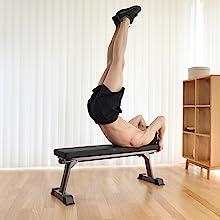 Finer form Flat folding exercise bench