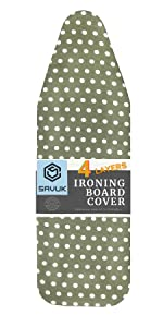 Ironing board cover 15x54 Dots Green