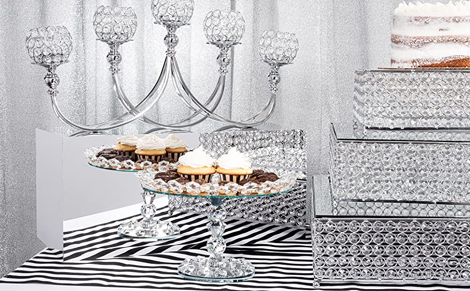 Simply Elegant Crystal Cake Stand Collection