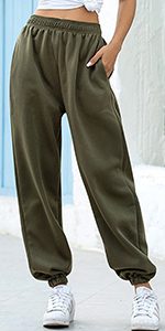 Drawstring Elastic Waist Pants