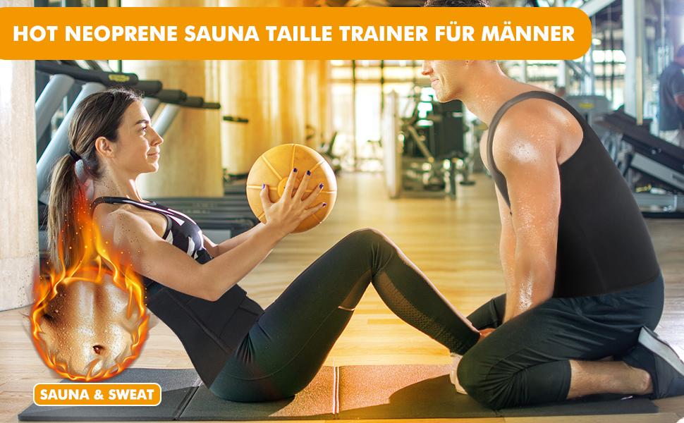 Herren Bauchweggürtel Fitnessgürtel Schwitzgürtel Fitness Gürtel