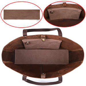 Canvas Padded Cushion & Zippered Pocket