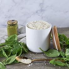 white ceramic kitchen food storage jar with lid ciroa