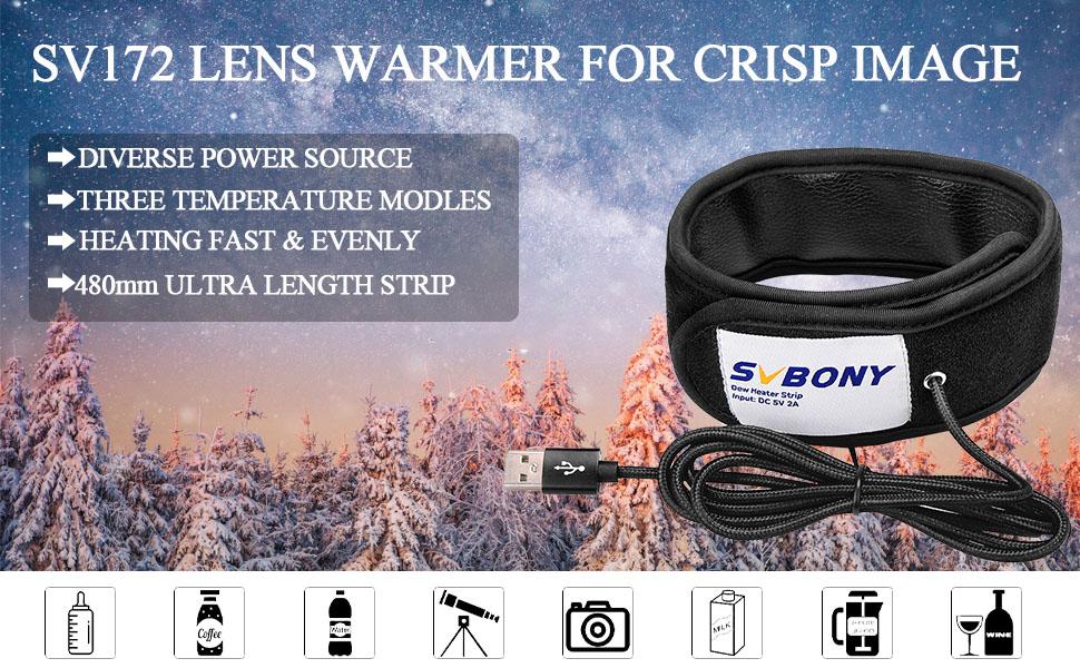 Lens warmer