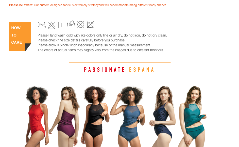 Women's Tankini Swimsuits High Neck Mesh Halter High Waisted Swimwear Tummy Control Bathing Suits