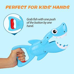 shark grabber baby bath toys