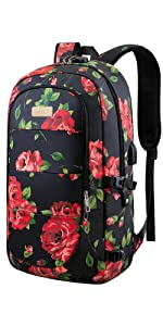 17.3 Anti Theft Laptop Backpack- Rose