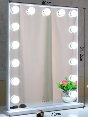 Desk Mirror with Lights