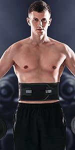 Lower back brace for lifting heavy device men women
