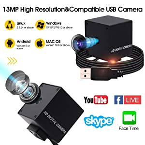Autofocus Usb with Cameras High Definition 3840X2880 USB Camera,