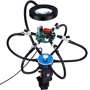 Helping Hands Soldering 3X Magnifying Lamp Soldering Station Third Hand Tool Rotary Bench Vise Table