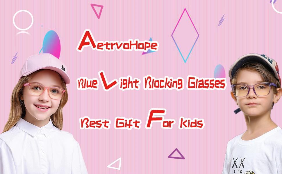 Blue Light Glasses for Kids 2 Pack
