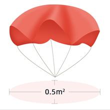 0.5mm parachute