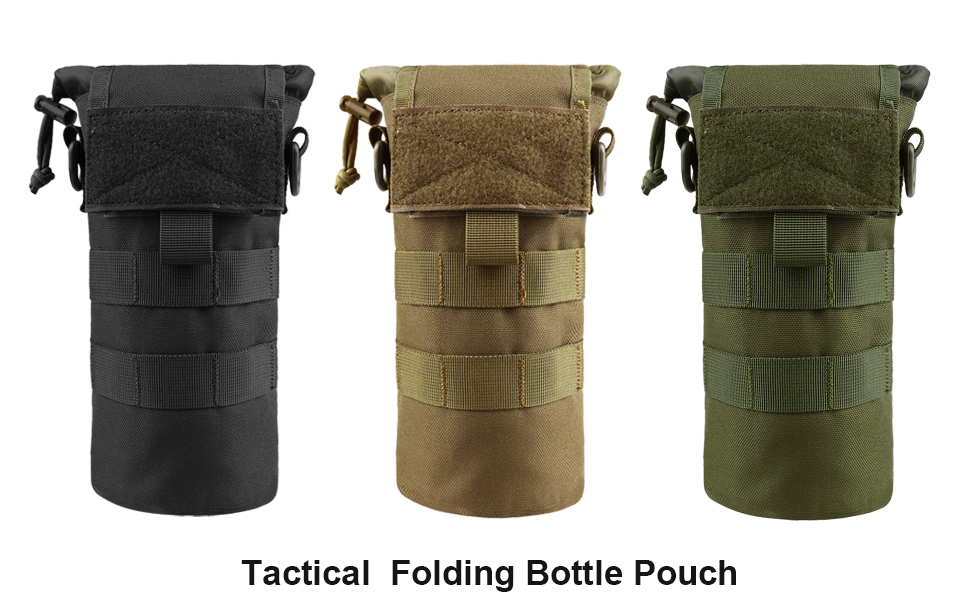 Folding Water Bottle Pouch Molle Tactical Holder Storage Bag for 32oz Carrier