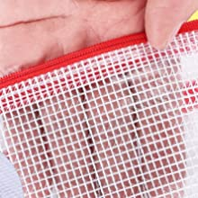 large zipper pouch mesh pouch large zippered pouch plastic mesh zipper pouch