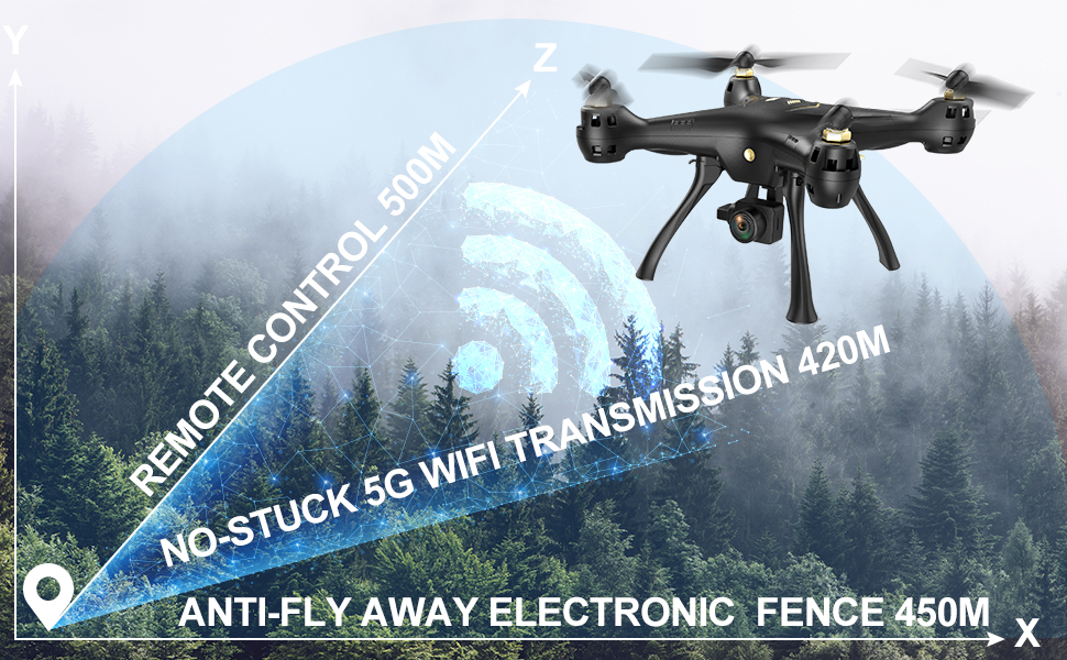 DROCON 5G Screwdriver-Free Big GPS Drone