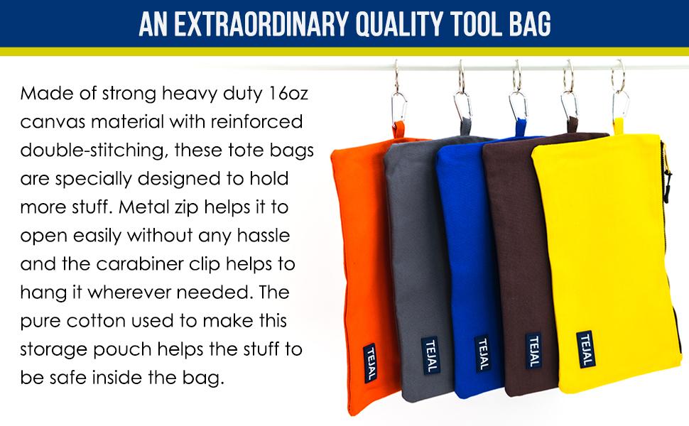Canvas Tool Pouch Zipper Bag