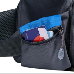 fanny pack for women men kids water bottle holder hiking camping running black blue  large waist bag