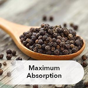 Turmeric curcumin with bioperine black pepper