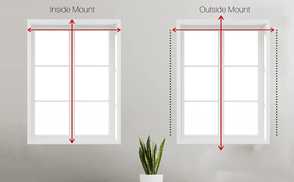 how to measure inside mount and outside mount roller shades