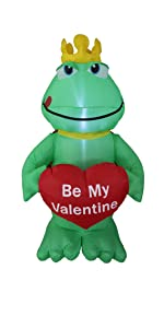 bzb goods valentines day inflatables led yard garden outdoor decoration hearts love air blown blowup