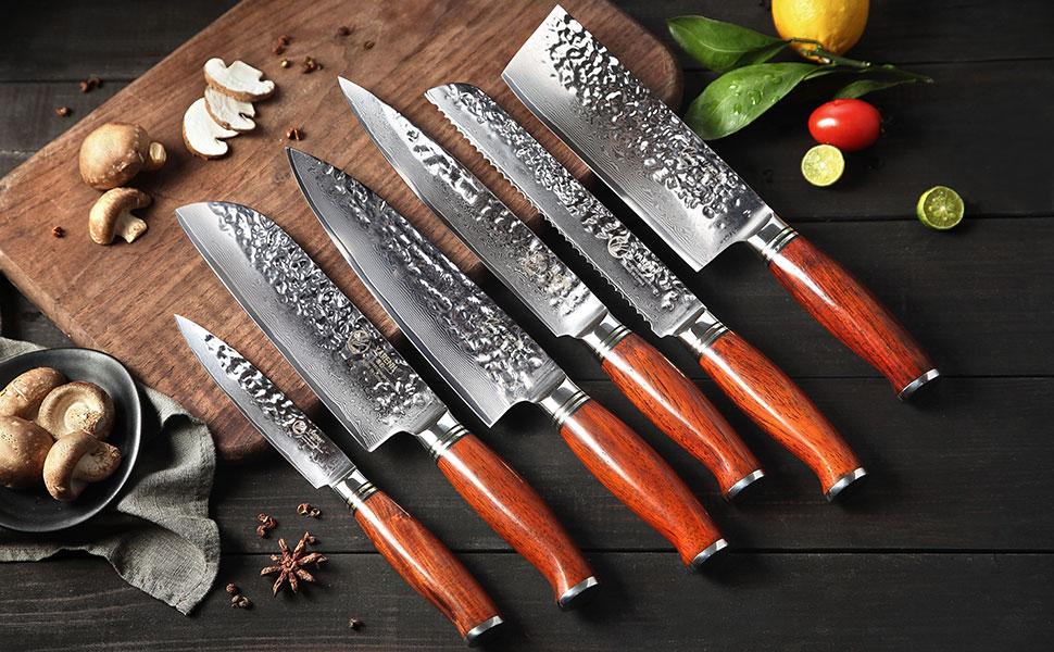 Compra YARENH Juego de Cuchillos de Cocina 6 Piezas - - Set ...