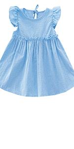 Toddler Girls Cotton Tunic Dress Swing Casual Playwear