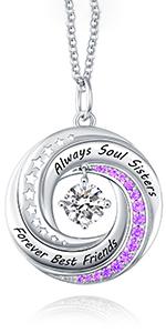 soul sister best friend necklace