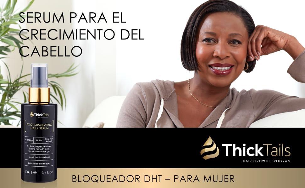 ThickTails Serum Bloqueador De DHT - Para El Crecimiento Del Cabello Para Mujeres Para El Crecimiento Del Cabello: Amazon.es: Belleza