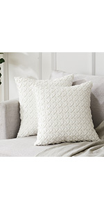Cream Throw Pillow Covers