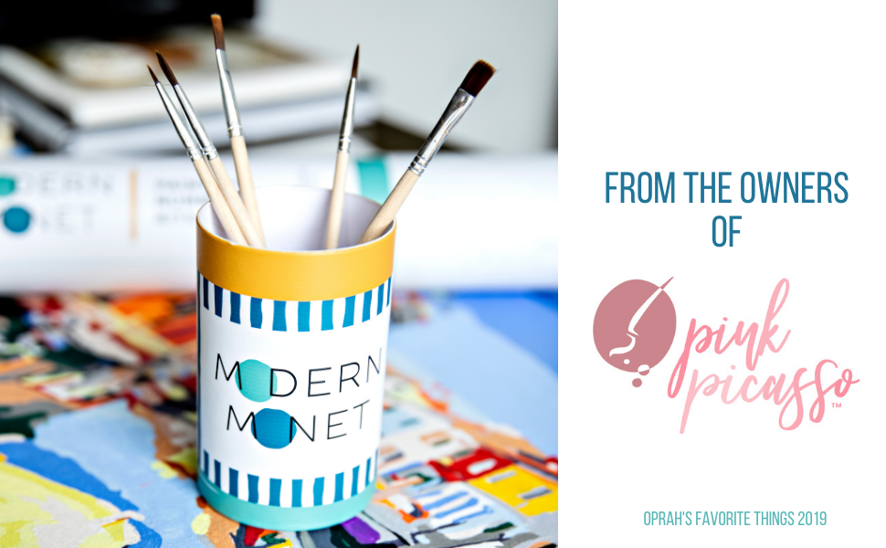 modern monet pink picasso paint by numbers kits oprahs favorite things