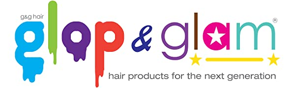 Glop Glam Hair Products Teen Tween Vegan Cruelty-Free Shampoo Glitter Conditioner Leave-In