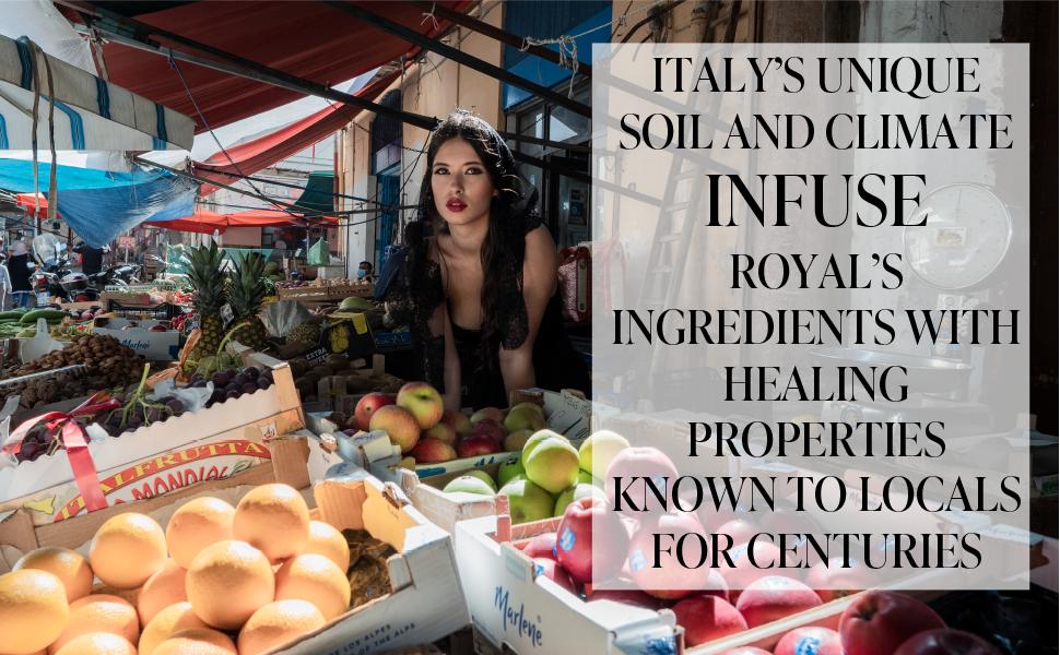 ITALY'S UNIQUE INGREDIENTS, HEALING PROPERTIES
