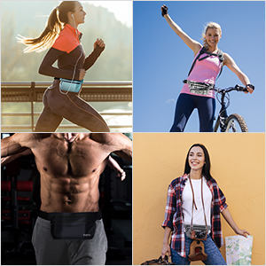 For running, biking, fitness, travelling; can double as a money belt.