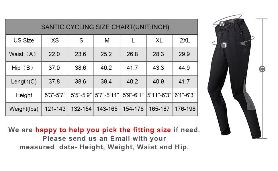 santic cycling fleece pants